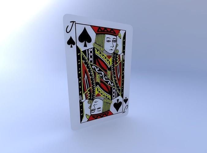 jack of spades 3d model obj mtl 1