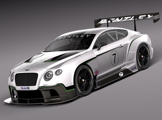 Bentley Continental GT3 2014 Race Car 3D Model MAX OBJ 3DS