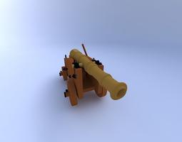 cannon w textures2 3d model