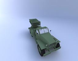 BM-8-48 missile launcher 3D model