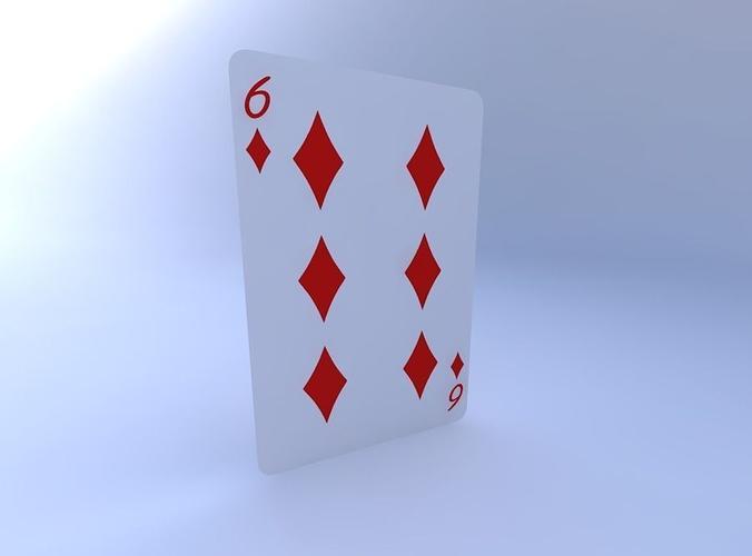 six of diamonds 3d model obj mtl 1