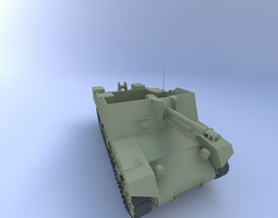 Sexton Tank 88 mm 3D model