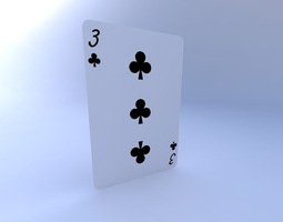 Three of Clubs 3D