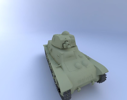 H-39 Tank 3D Model