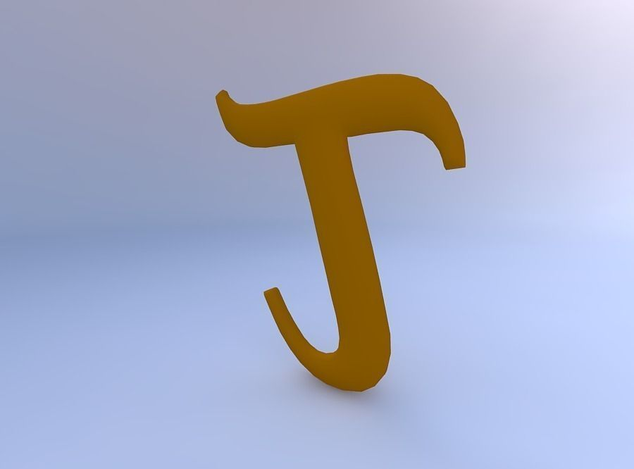 3d Greek Letter Tau Cgtrader