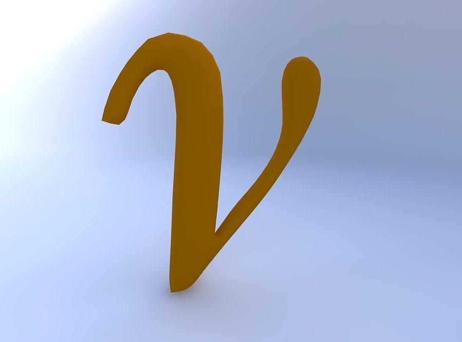 3D Greek Letter Nu