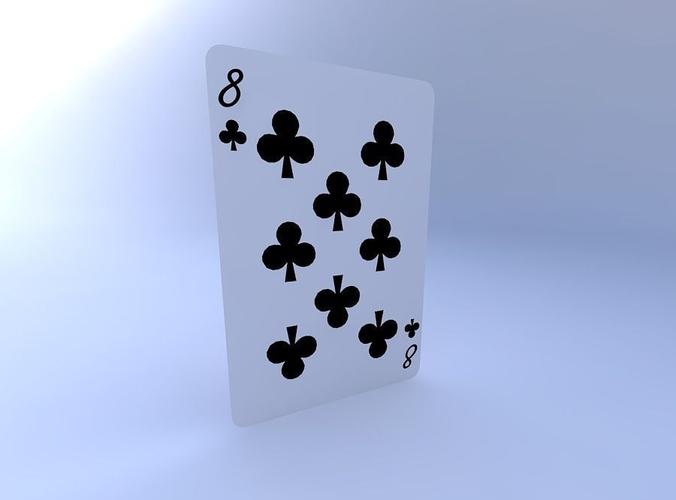 eight of clubs 3d model obj mtl 1