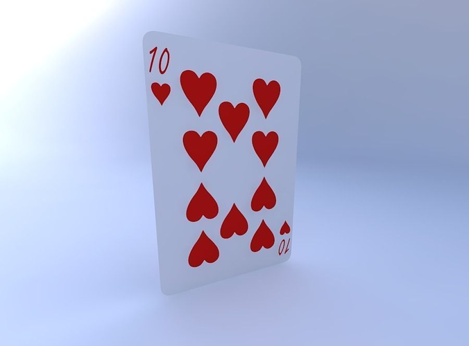 ten of hearts 3d model obj mtl 1