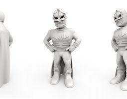 mexican wrestler mascarita sagrada 3d model stl