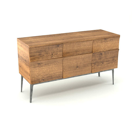 3d model contemporary wooden sideboard cgtrader for Sideboard 3d