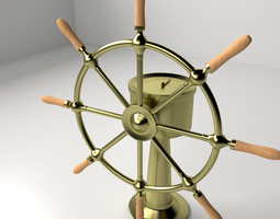 ships wheel 3d model 3ds fbx blend dae