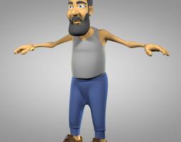 3D Cartoon old man