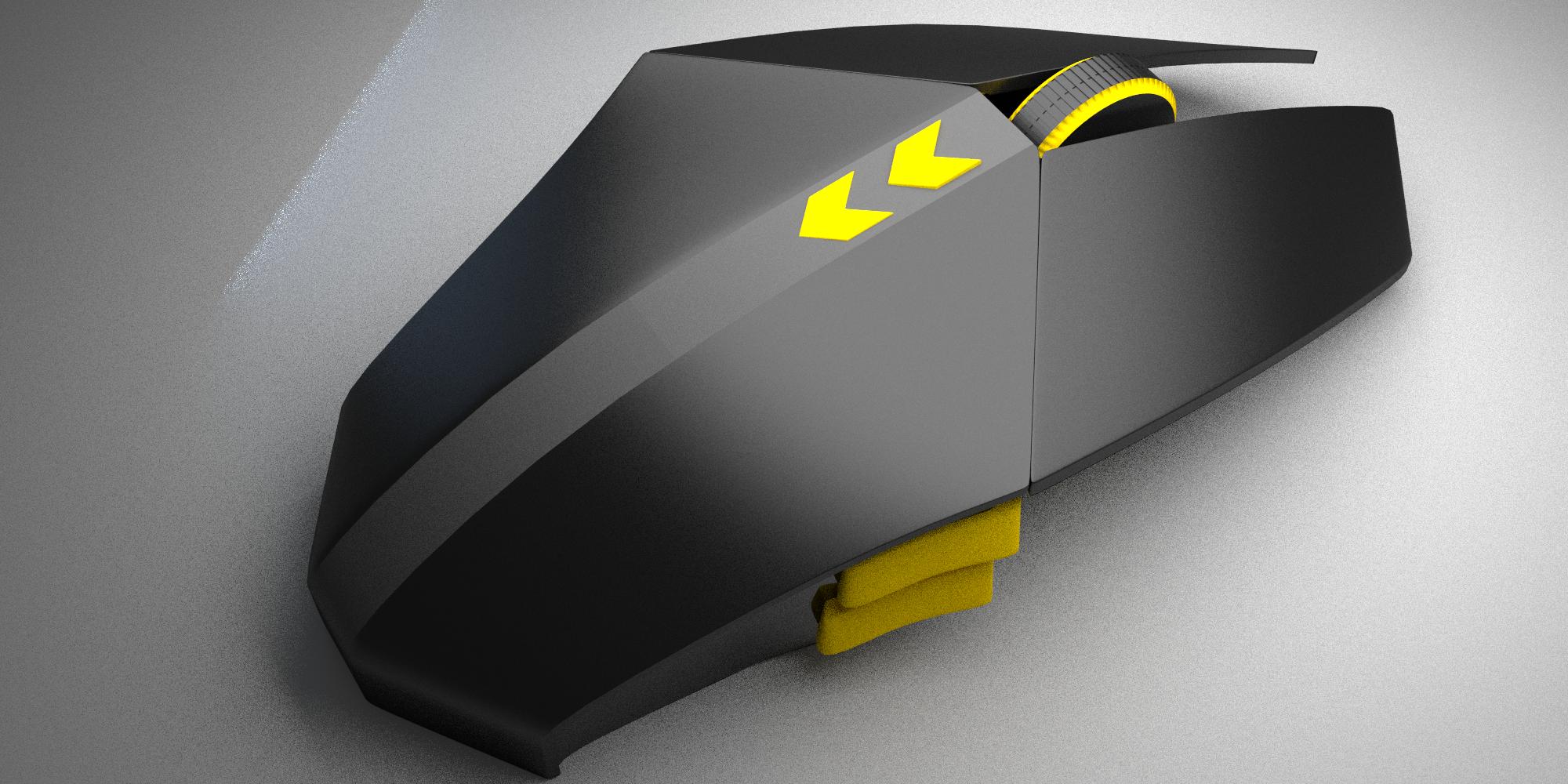 Dpfr futuristic computer mouse 3d model obj blend for Futuristic household items