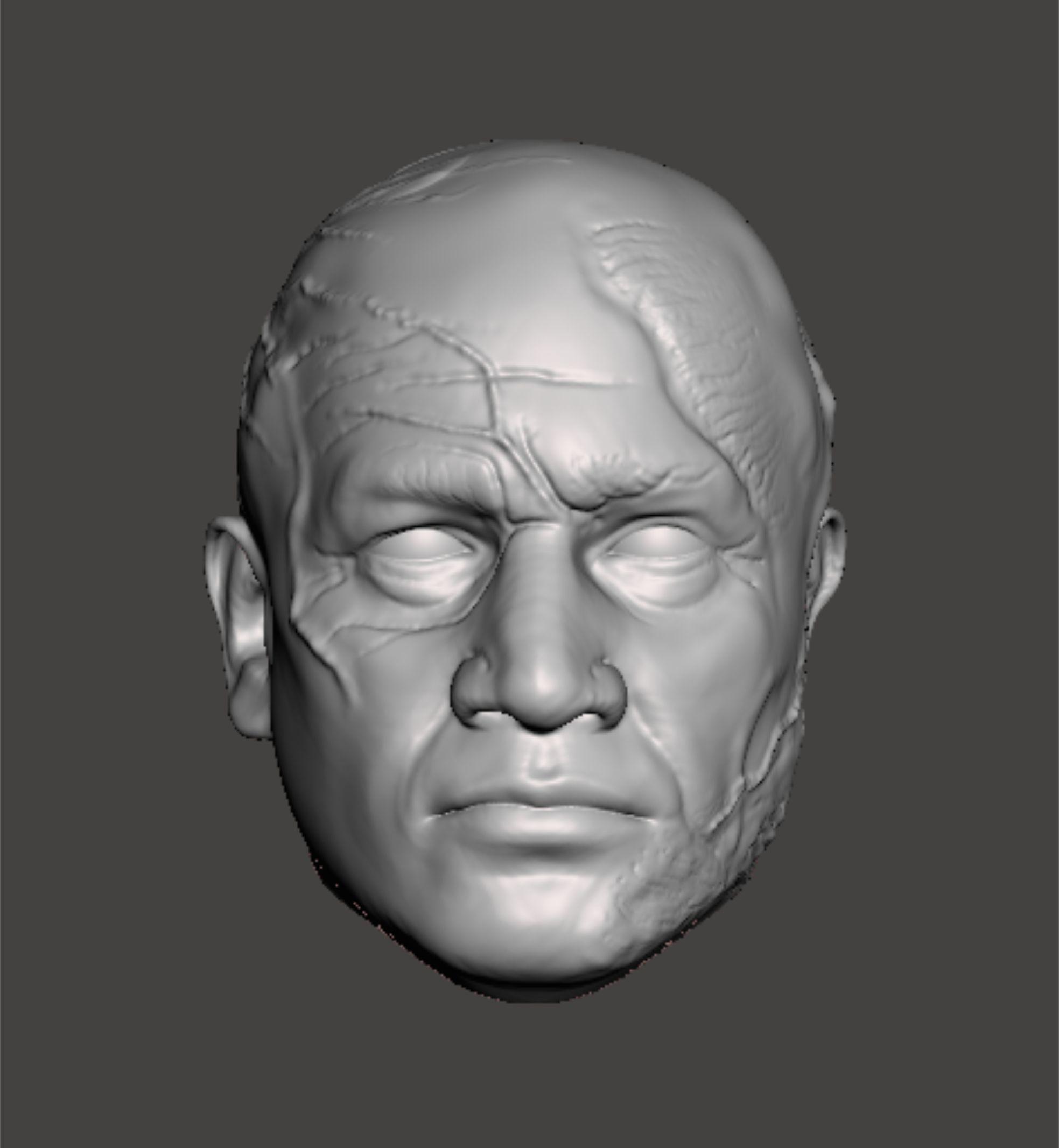 Boba Fett head sculpt for 3d print
