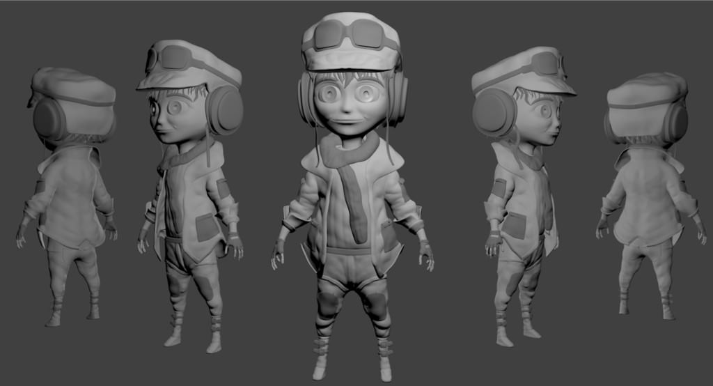 Blender Cookie Character Modeling : Plane pilot character free d model blend cgtrader