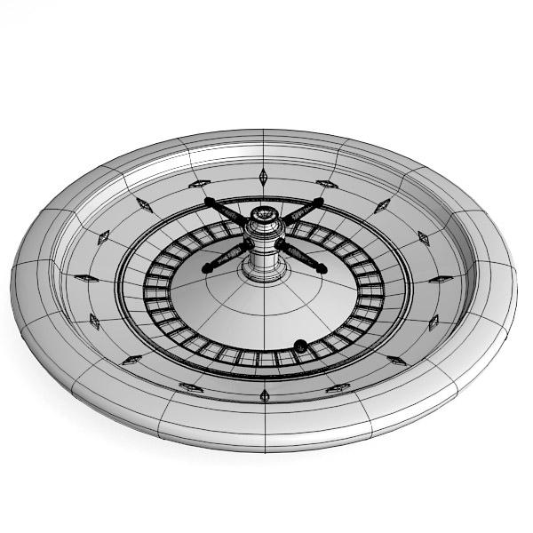 Roulette wheel 3d model free