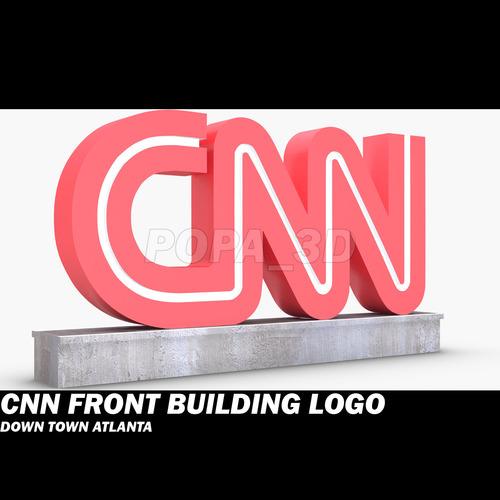 CNN Front Logo Building3D model