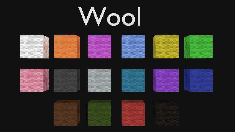 How To Craft All  Colors Of Wool In Minecraft