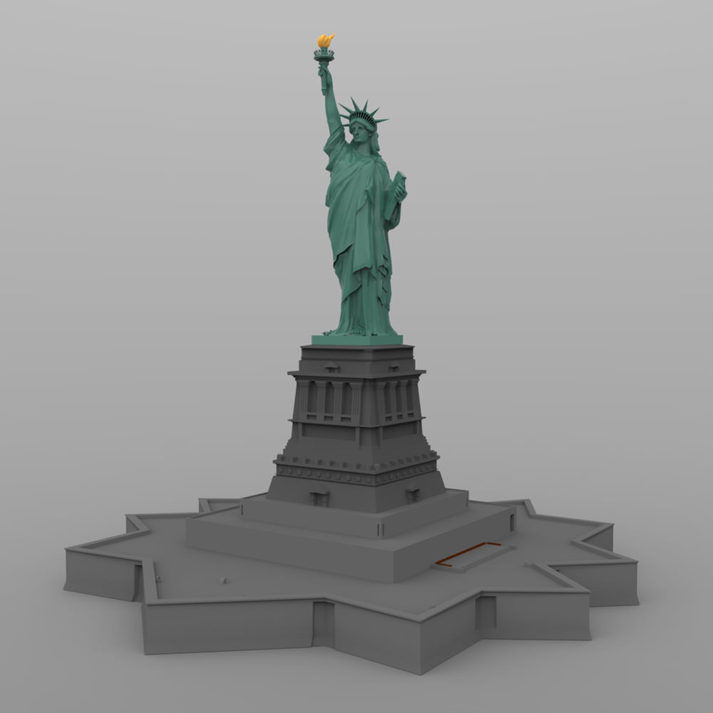 Statue Of Liberty 3d Model Obj Cgtrader Com