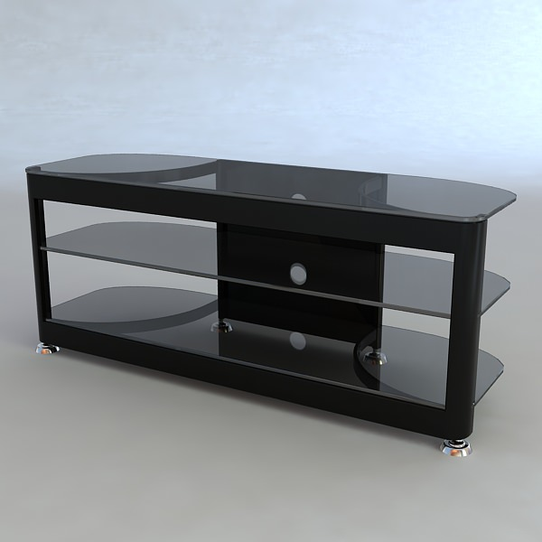 tv stand 3d model max obj 3ds fbx. Black Bedroom Furniture Sets. Home Design Ideas