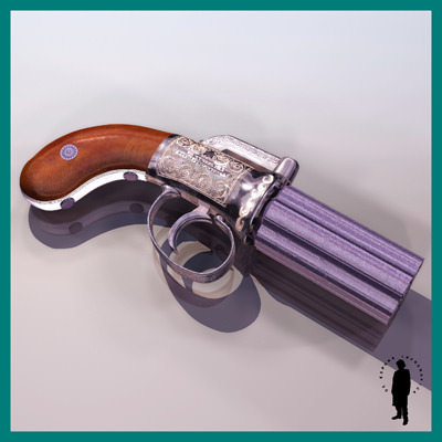 Pepperbox gun 3d model