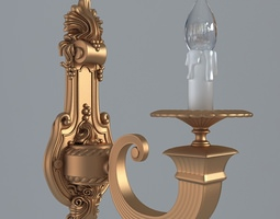 Antiquarian graceful sconce 3D Model