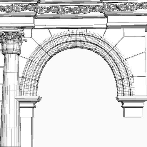 Stone Column Arch 3d Model Max 3ds Fbx