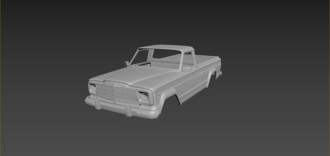 Jeep J10 1986 Body For Print
