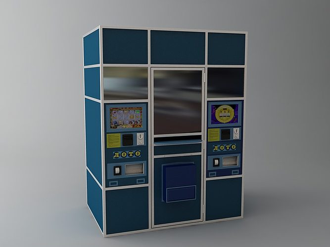 lottery vending machine 3d model max 1