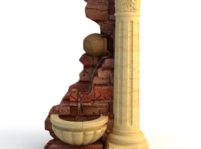 Fountain Stone Column3D model