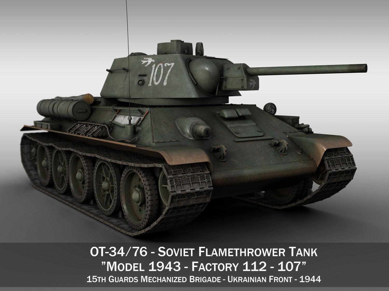 OT-34-76 - Soviet Flamethrower Tank - 107
