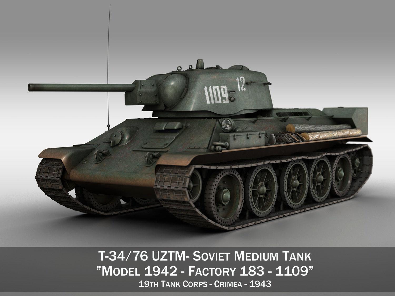 T-34-76 UZTM - Model 1942 - Soviet tank - 1109