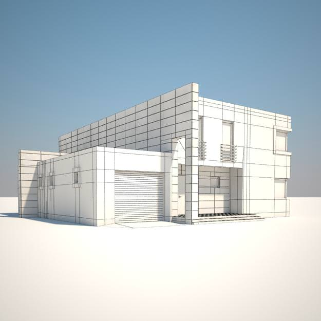 fbx House 3D model   CGTrader