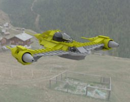 Modular Brick Naboo N1 obj 3D model