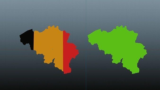 Belgium map symbol