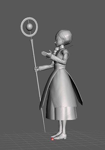 Angel Cus Dragon Ball Super 3D Model