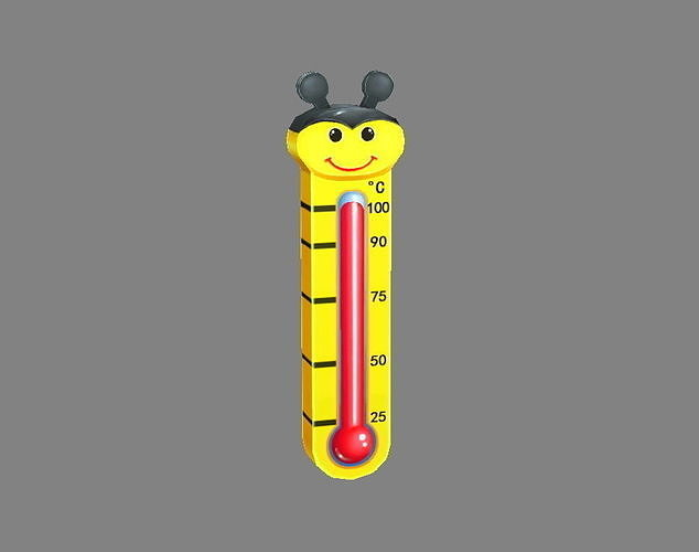 Cartoon bee shape thermometer
