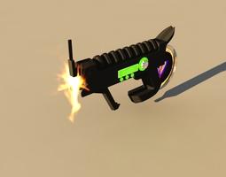 3D model futuristic weapon