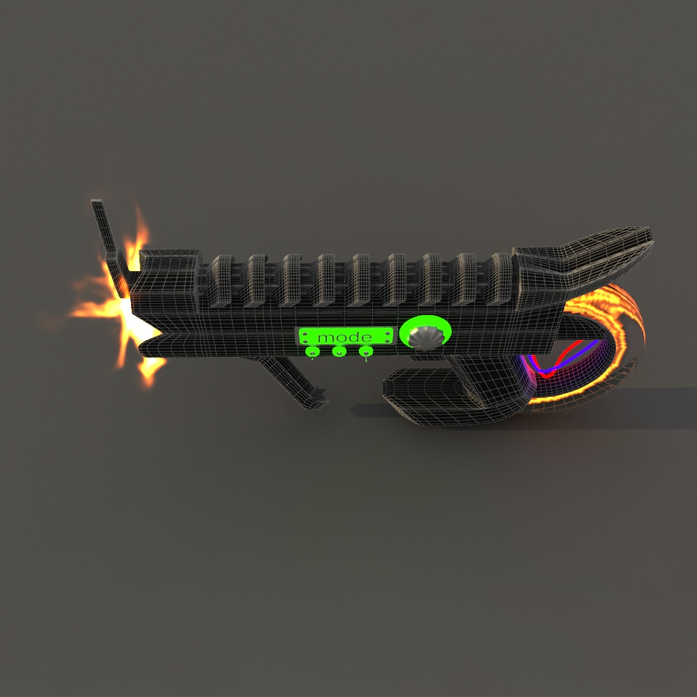 Futuristic weapon free 3d model game ready max for Futuristic household items