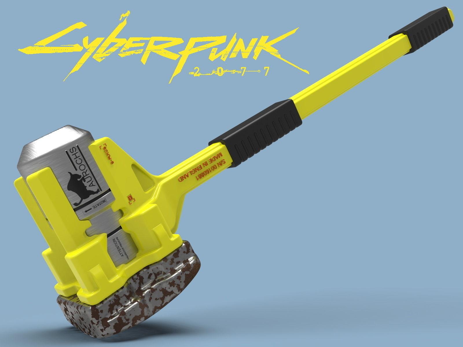 Cyberpunk Sasquatch Hammer 3d model for print