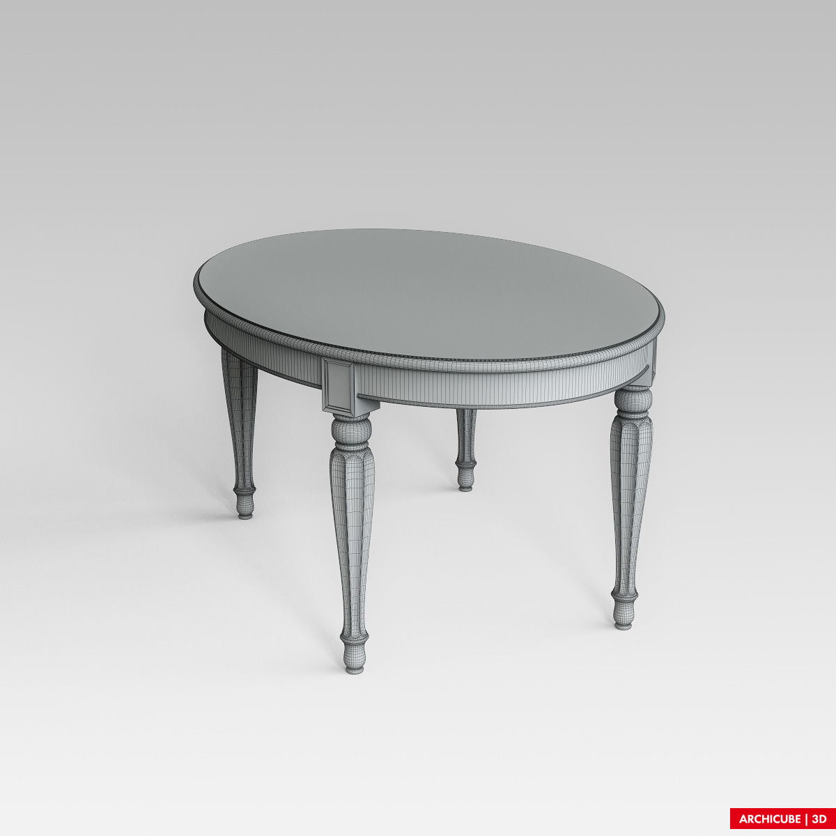 Dining table 3D Model MAX OBJ FBX | CGTrader.com