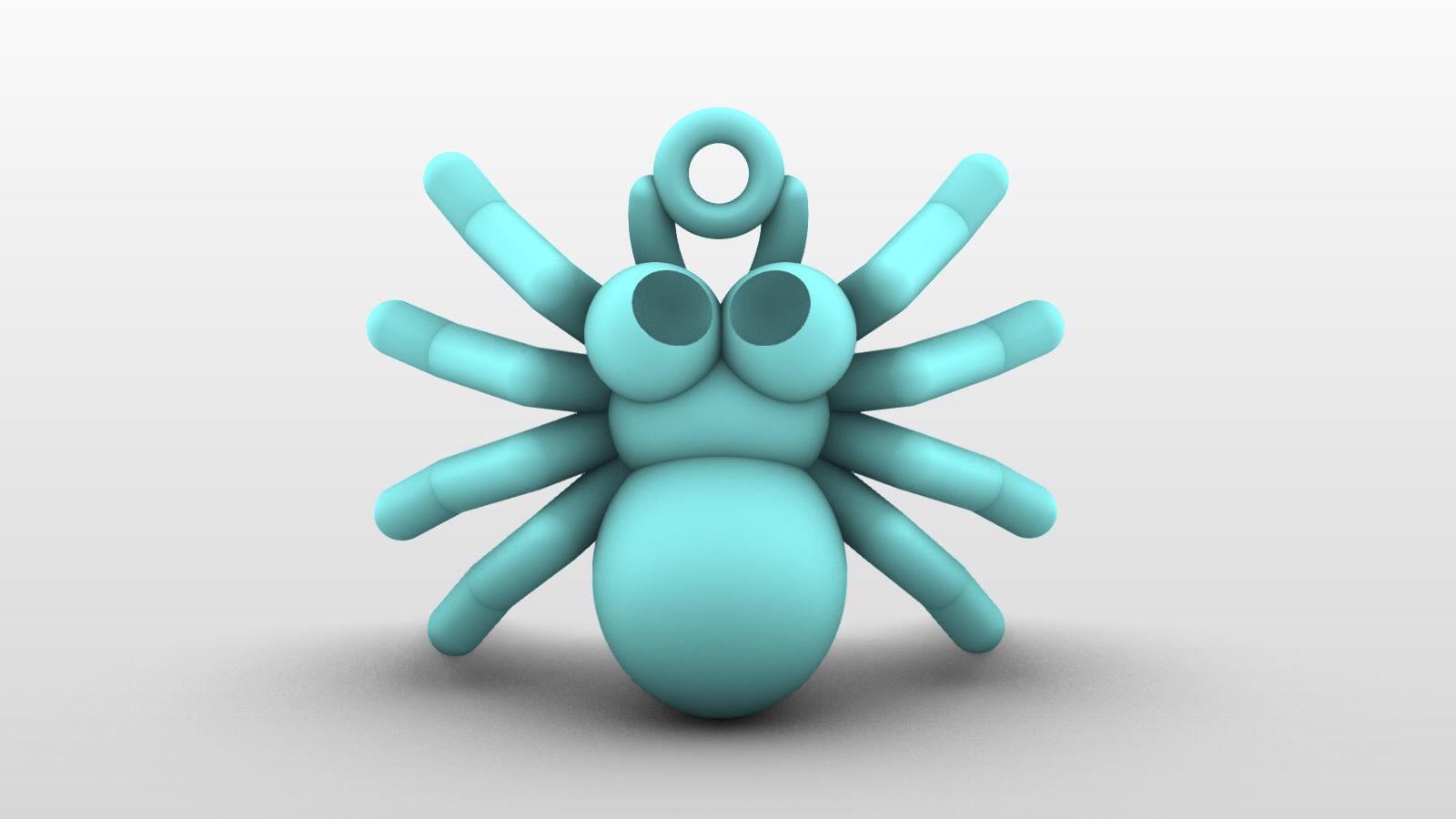 Charm pendant - adorable little spider