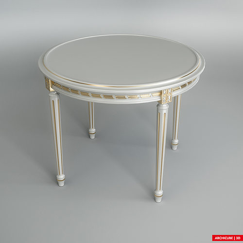 3d white dining table cgtrader for New model dining table
