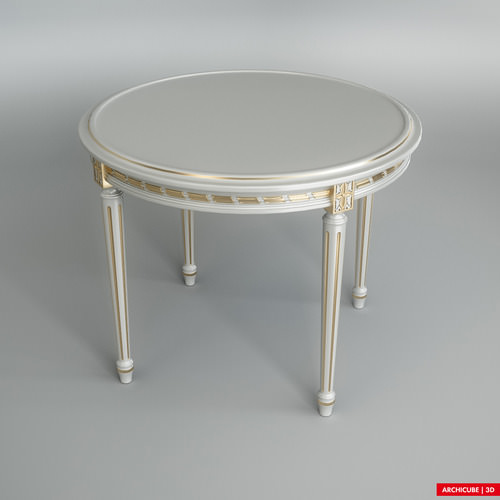White dining Table3D model