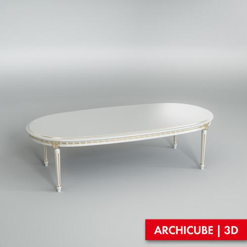 White dining table 0023D model