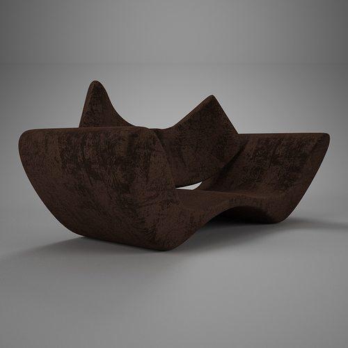 velvet brown vray material 3d model max obj fbx mtl 1