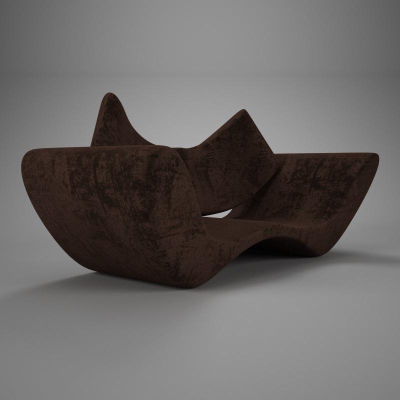 Velvet brown vray material   3D model