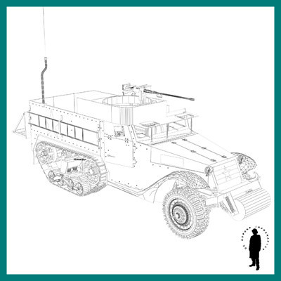 M3 half track us carrie 3d model max cgtrader com