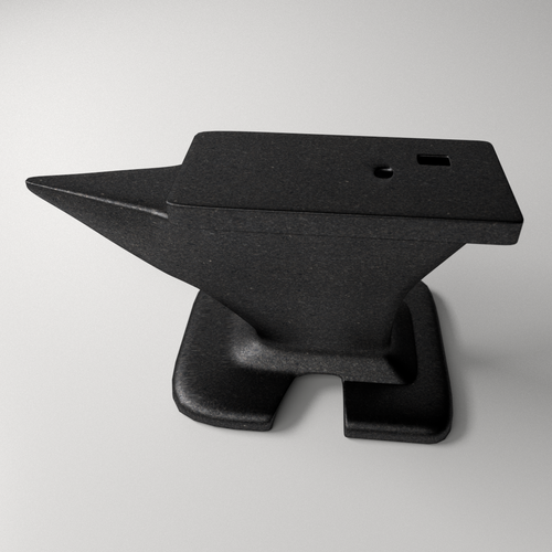 Anvil 3D Model .3ds .fbx .blend .dae