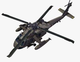 UH60 Blackhawk Helicopter 3D Model